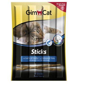 GimCat Sticks mit Lachs & Forelle für Katzen 4St.