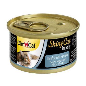 GimCat Dose ShinyCat Thunfisch mit Garnelen 70g (Menge: 24 je Bestelleinheit)