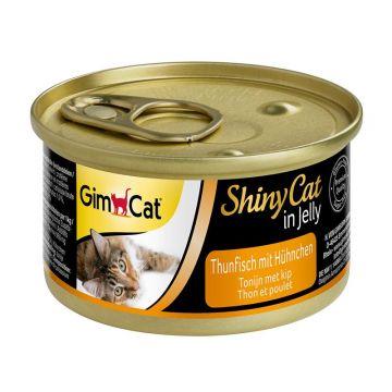 GimCat Dose ShinyCat Thunfisch mit Hühnchen 70g (Menge: 24 je Bestelleinheit)