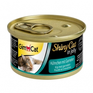 GimCat Dose ShinyCat Hühnchen mit Garnelen 70g (Menge: 24 je Bestelleinheit)