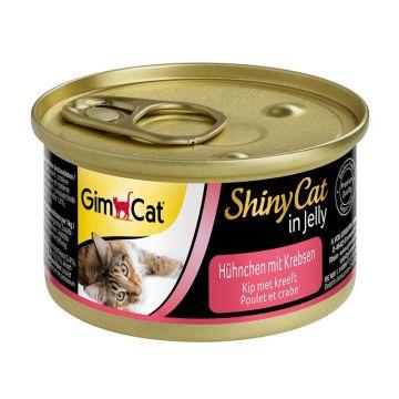 GimCat Dose ShinyCat Hühnchen mit Krebsen 70g (Menge: 24 je Bestelleinheit)