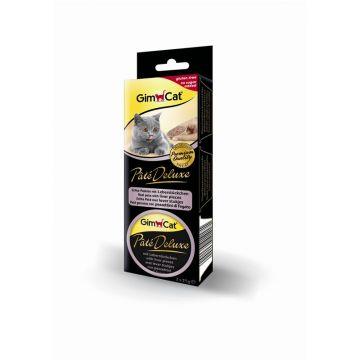 GimCat Pate Deluxe mit Leberstückchen 3x21g
