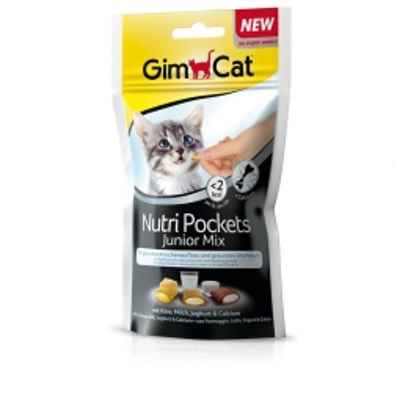 Gimpet Cat Nutri Pockets Junior Mix 60g