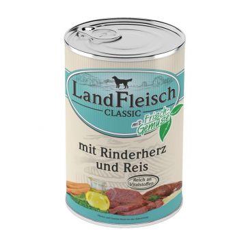 Landfleisch Dog Pur Rinderherzen & Reis 400g (Menge: 12 je Bestelleinheit)