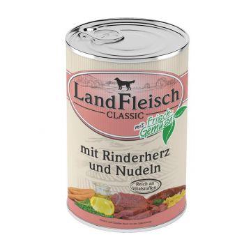 Landfleisch Dog Pur Rinderherzen & Nudeln 400g (Menge: 12 je Bestelleinheit)