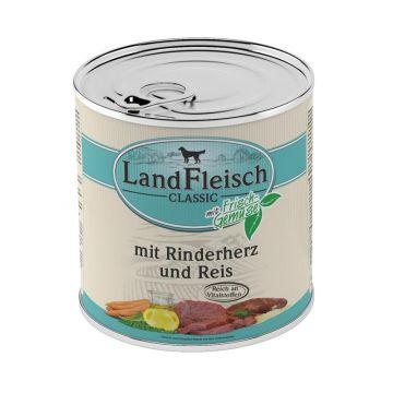Landfleisch Dog Pur Rinderherzen & Reis 800g (Menge: 6 je Bestelleinheit)