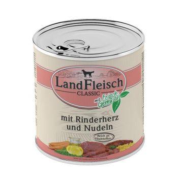 Landfleisch Dog Pur Rinderherzen & Nudeln 800g (Menge: 6 je Bestelleinheit)