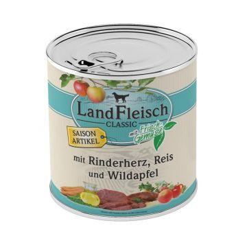 Landfleisch Dog Pur Rinderherz, Reis & Wildapfel 800g SAISONARTIKEL (Menge: 6 je Bestelleinheit)