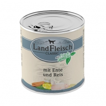 LandFleisch Dog Pur Ente & Reis mit Frisch-Gemüse 800g (Menge: 6 je Bestelleinheit)