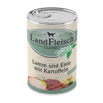 LandFleisch Dog Pur Lamm & Ente & Kartoffeln 400g (Menge: 12 je Bestelleinheit)