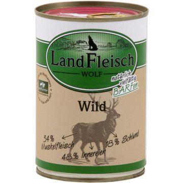 LandFleisch Wolf Sensibel 100% Fleisch vom Wild 400g (Menge: 12 je Bestelleinheit)