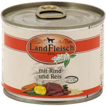 Landfleisch Dog Pur Rind & Reis extra mager 195g (Menge: 12 je Bestelleinheit)