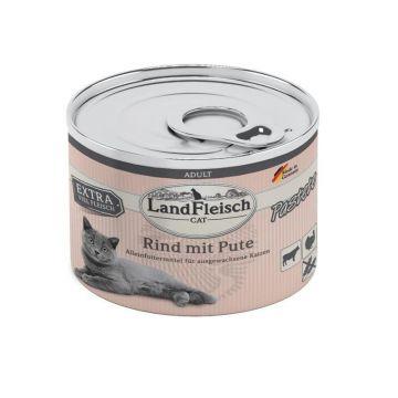 LandFleisch Cat Adult Pastete Rind & Pute 195g (Menge: 6 je Bestelleinheit)