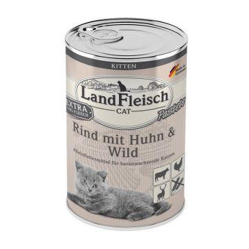 Landfleisch Cat Kitten Pastete Rind, Huhn & Wild 400g (Menge: 6 je Bestelleinheit)