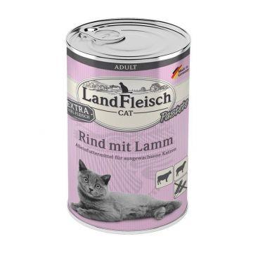 LandFleisch Cat Adult Pastete Rind & Lamm 400 g (Menge: 6 je Bestelleinheit)