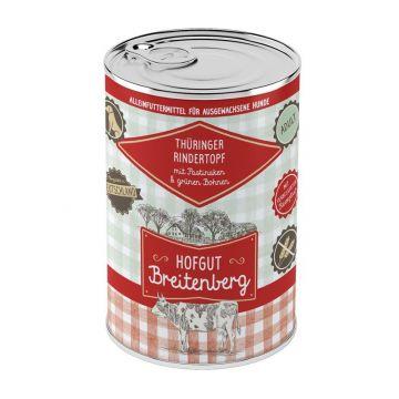 Hofgut Breitenberg Dog Thüringer Rindertopf mit Pastinaken & grünen Bohnen 400g (Menge: 12 je Bestelleinheit)