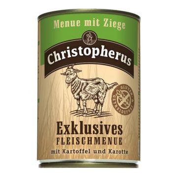 Christopherus Dose Menue mit Ziege 400g (Menge: 6 je Bestelleinheit)
