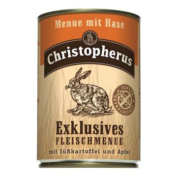 Christopherus Dose Menue mit Hase 400g (Menge: 6 je Bestelleinheit)