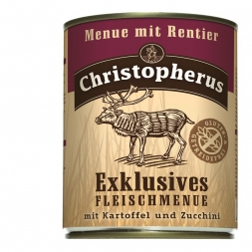 Christopherus Dose Menue mit Rentier 800g (Menge: 6 je Bestelleinheit)