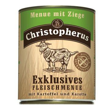 Christopherus Dose Menue mit Ziege 800g (Menge: 6 je Bestelleinheit)