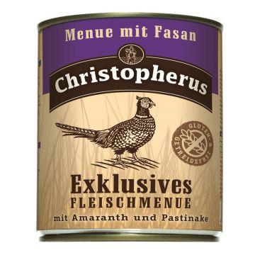 Christopherus Dose Menue mit Fasan 800g (Menge: 6 je Bestelleinheit)