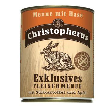 Christopherus Dose Menue mit Hase 800g (Menge: 6 je Bestelleinheit)