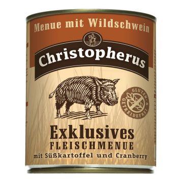 Christopherus Dose Menue mit Wildschwein 800g (Menge: 6 je Bestelleinheit)
