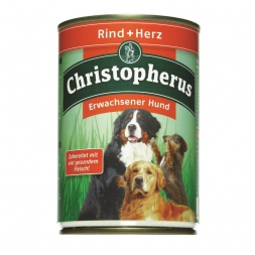 Christopherus Dose Rind & Herz 400g (Menge: 6 je Bestelleinheit)
