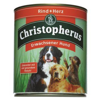Christopherus Dose Rind & Herz 800g (Menge: 6 je Bestelleinheit)