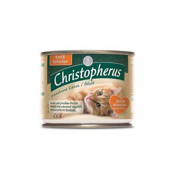 Christopherus Cat Dose Adult Rind & Hühnchen 200g (Menge: 6 je Bestelleinheit)