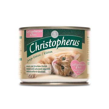 Christopherus Cat Dose junge Katzen Geflügelherzen & Reis 200g (Menge: 6 je Bestelleinheit)