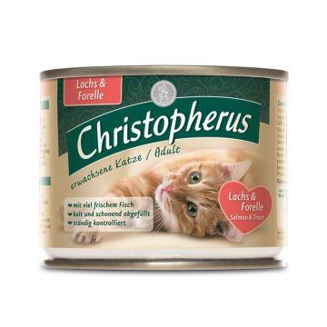 Christopherus Cat Dose Adult Lachs+ Forelle 200g (Menge: 6 je Bestelleinheit)