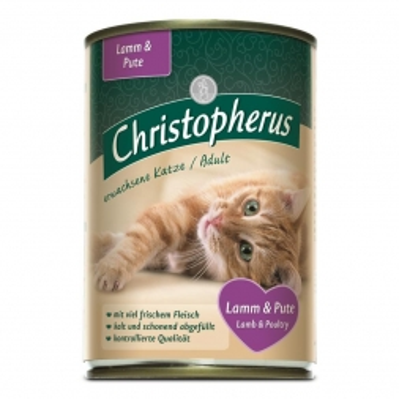 Christopherus Cat Dose Adult Lamm & Pute 400g (Menge: 6 je Bestelleinheit)