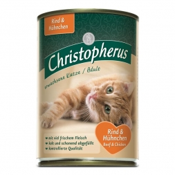 Christopherus Cat Dose Adult Rind & Huhn 400g (Menge: 6 je Bestelleinheit)