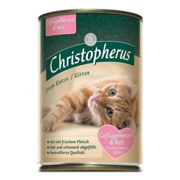 Christopherus Cat Dose junge Katzen Geflügelherzen & Reis 400g (Menge: 6 je Bestelleinheit)