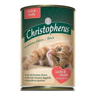 Christopherus Cat Dose Adult Lachs+ Forelle 400g (Menge: 6 je Bestelleinheit)