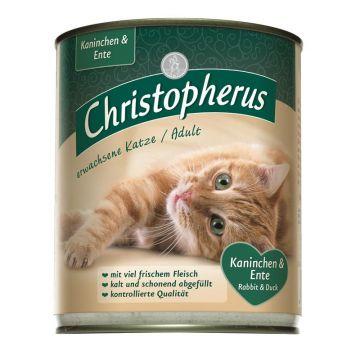 Christopherus Cat Dose für erwachsene Katzen Kaninchen & Ente 800g (Menge: 6 je Bestelleinheit)