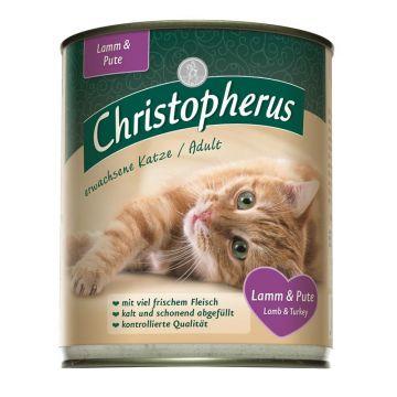 Christopherus Cat Dose für erwachsene Katzen Lamm & Pute 800g (Menge: 6 je Bestelleinheit)