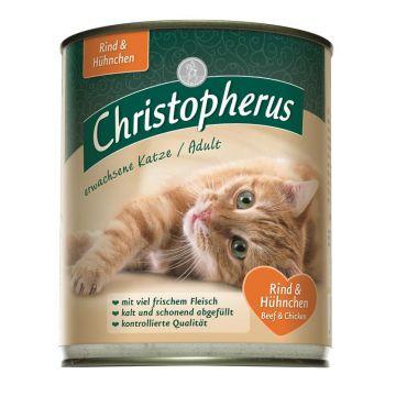 Christopherus Cat Dose für erwachsene Katzen Rind & Huhn 800g (Menge: 6 je Bestelleinheit)