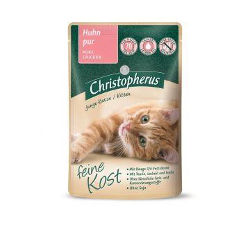 Christopherus Cat Portionsbeutel Kitten - Huhn pur 85 g (Menge: 12 je Bestelleinheit)