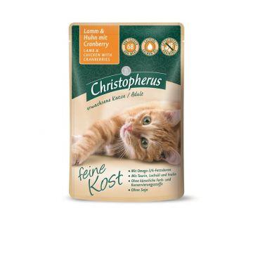 Christopherus Cat Portionsbeutel Adult - Lamm + Huhn mit Cranberry 85 g (Menge: 12 je Bestelleinheit)