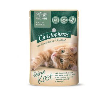 Christopherus Cat Portionsbeutel Adult - Sterilized Geflügel mit Reis 85 g (Menge: 12 je Bestelleinheit)