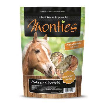 Monties Snack Möhre Kleeblatt - gebacken 500g (Menge: 6 je Bestelleinheit)