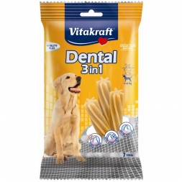 Vitakraft Dental 3 in 1 Medium, Größe: M, ab 10 kg, 7 Sticks