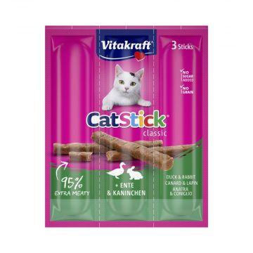 Vitakraft Cat-Stick mini Ente & Kaninchen Inhalt: 3 Stück