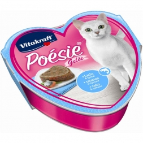 Vitakraft Poésie Gelée Lachs + Spinat 85 g Schale