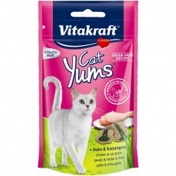 Vitakraft Yums Huhn & Katzengras
