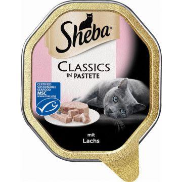 Sheba Schale Classics mit Lachs 85g (Menge: 22 je Bestelleinheit)