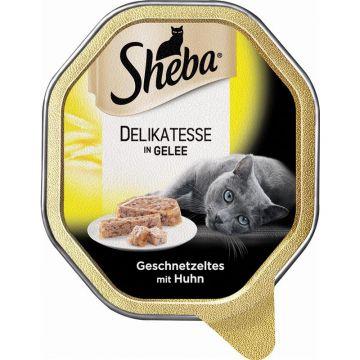 Sheba Schale Genuss in Gelee Geschnetzteltes mit Huhn 85g (Menge: 22 je Bestelleinheit)
