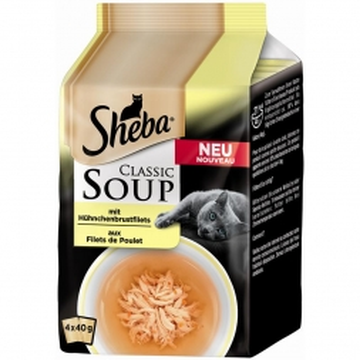 Sheba Portionsbeutel Multipack Classic Soup Hühnchenbrustfilets 4x50g (Menge: 12 je Bestelleinheit)